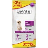 La Vital Maxi Puppy Lamb Kuzu Etli Yavru Köpek Maması 12+3 Kg Entegre Paket