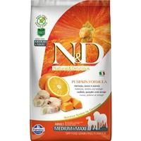 N&D Pumpkin Tahılsız Bal Kabaklı, Morina Balıklı Ve Portakallı Orta Ve Büyük Irk Yetişkin Köpek Maması 12 Kg