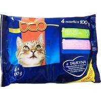 Teo Pouch Kedi Konservesi 4'lü Paket 4X100 Gr ( 2Xtavşanlı - 2Xdanalı )