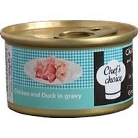 Chefs Choice Chicken With Duck İn Gravy Soslu Tavuk Ve Ördek Etli Tahılsız Kedi Konservesi 80 Gr