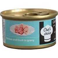 Chefs Choice Duck And Turkey İn Gravy Soslu Ördek Ve Hindi Kedi Konservesi 80 Gr