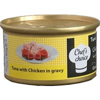 Chefs Choice Tuna And Chicken İn Gravy Soslu Ton Balığı Ve Tavuklu Tahılsız Kedi Konservesi 80 Gr