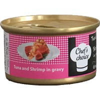 Chefs Choice Tuna And Shrimp İn Gravy Soslu Ton Balığı Ve Tavuklu Tahılsız Kedi Konservesi 80 Gr