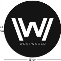 candleNmore Westworld / Özel Tasarım Metal Duvar Panosu