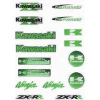 Prc Motosiklet Damla Etiket Seti Kawasakı ( Tankpad Mazemesinden )