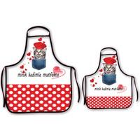 Melay Minik Kedimle Mutfakta Mutfak Önlüğü