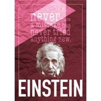 decArtHOME Albert Einstein E Poster (30 x 42 cm)