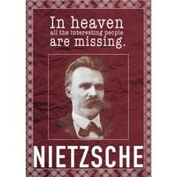 decArtHOME Friedrich Nietzsche D Poster (30 x 42 cm)