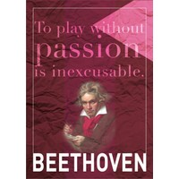 decArtHOME Beethoven F Poster (30 x 42 cm)