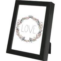 decArtHOME Love Çerçeve (18 x 24 cm Siyah)