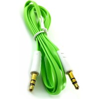 Electroon 3.5Mm Stereo Flat Audio Aux Kablo Yeşil