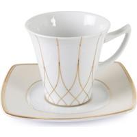 Cutechef Kitchen Porselen Gold Kare Çay Takımı