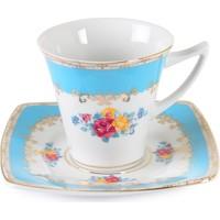 Cutechef Kitchen Porselen Turkuaz Kare Çay Takımı
