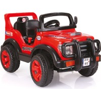 Dolu Nitro Jeep Akülü Araba 6V Kırmızı
