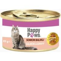 Happy Paws Salmon in Gravy Somon Balıklı ve Soslu Yetişkin Kedi Konservesi 80 Gr.