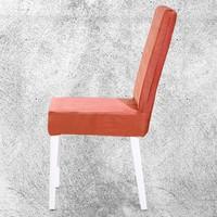 Hira Demonte Düz Beyaz Ayak Yıkanabilir Kumaşlı Demonte Sandalye