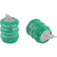 Power-Xtra 3.6V Ni-Mh 80 Mah 2 Pin Buton Pil