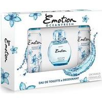 Emotıon Ocean Fres Edt 50Ml Kadın Parfüm + 2 Adet 150Ml Deodorant Set