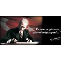 Bayrakal Atatürk Kanvas Tablo 100X150Cm.