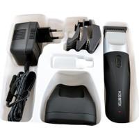 Hobimtek Profesyonel Kuaför Saç Sakal Berber Tıraş Makinesi Erkek Bakım Şarjlı Traş Seti
