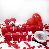 Harfdekor Sevgiliye Özel Doğum Günü Dekoru Seni Seviyorum Harfleri Full Paket (Ölçü 15-4 Cm)