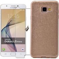 KılıfShop Samsung Galaxy J5 Prime Simli Silikon Kılıf + Ekran Koruyucu