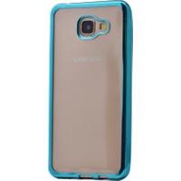 Kny Samsung Galaxy A9 Kılıf Renkli Kenarlı Silikon +Cam