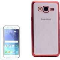 Gpack Samsung Galaxy On5 Kılıf Arka Kapak Şık Lazer Silikon + Kırılmaz Cam