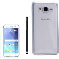 Gpack Samsung Galaxy On7 Kılıf Premier Silikon Yumuşak Arka Kapak +Kalem+Kırılmaz Cam