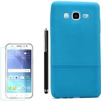 Gpack Samsung Galaxy On7 Kılıf Matrix Silikon Arka Kapak +Kalem + Kırılmaz Cam
