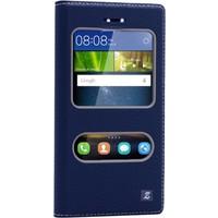 Gpack Huawei Gr3 Kılıf Çift Pencereli Deri Kapaklı Dolce