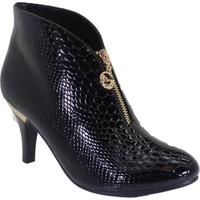 Despina Vandi BLG 16K111-6 Siyah Kadın Topuklu Klasik Bot