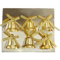 KullanAtMarket Minik Altın Çanlar Yılbaşı Ağaç Süsü 6'Lı