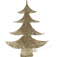 KullanAtMarket Altın Çam Ağacı Işıklı Dekor Süsü 60Cm