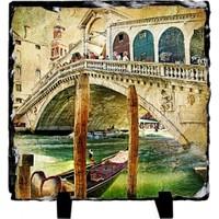 Fotografyabaski Venedik' İn Renkleri - Kare Taş 15X15Cm