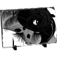 Fotografyabaski Siyah Şapkalı Kadın Dikdörtgen Taş Baskı 15X20 Cm