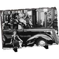Fotografyabaski Arabanın Üstünde Kadınlar Dikdörtgen Taş Baskı 15X20 Cm