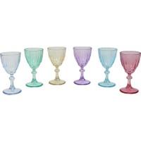 Ayaklı Likör Bardağı 6 Renk- Set