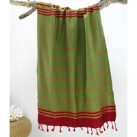 Peştemal Ethnic Kırmızı-Yeşil