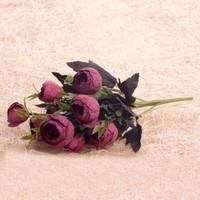 Benim Kınam Yapay Çiçek Bordo Şakayık Demeti 9 Adet Bordo Eren Gülleri Vardır Kopya