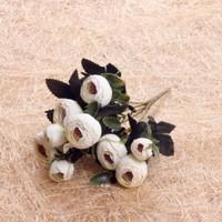 Benim Kınam Yapay Çiçek Krem Şakayık Demeti 9 Adet Krem Eren Gülleri Vardır