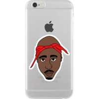 Remeto Tupac Apple iPhone 6/6S Şeffaf Transparan Silikon Resimli Kılıf