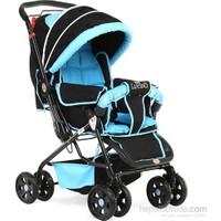 Ayyıldız Rival Lucido Çift Yönlü Bebek Arabası Mavi - Siyah