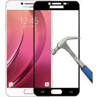 Teleplus Samsung Galaxy C5 Full Kapatan Cam Ekran Koruyucu Cam Ekran Koruyucu