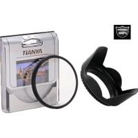 Nikon 50mm F1.8D Serisi Lens için Koruyucu Uv Filtre + Yaprak Parasoley -Tianya-