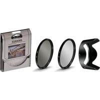 Nikon 18-140mm Lens için Koruyucu Uv Filtre + Cir Cpl Circular Polarize Filtre + Hb-32 Parasoley -Tianya-