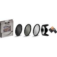 Nikon 18-140mm Lens için Koruyucu Uv + Cpl Polarize + Nd8 Filtre + Hb-32 Parasoley + Ml-l3 Kumanda -Tianya-