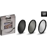 Tianya 52mm Koruyucu Uv Filtre + Cir Cpl Circular Polarize Filtre + Nd8 Uzun Pozlama Nd Filtre