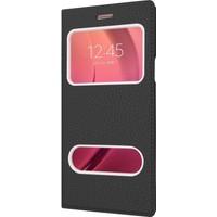 CaseUp Samsung Galaxy C5 Kılıf CaseUp Kapaklı Çift Pencereli + Kırılmaz Cam