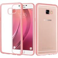 CaseUp Samsung Galaxy C5 Kılıf CaseUp Lazer Kesim Silikon + Kırılmaz Cam